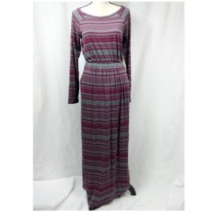 Anthropologie Deletta Striped Maxi Dress S